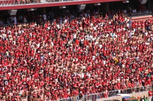 Stanford students at football game