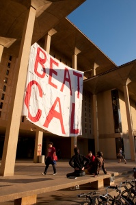 Beat Cal banner at Meyer Library