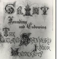Founding Grant, Stanford University