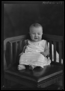 Born, Julius. [Portrait of Baby Sitting in Chair],  University of North Texas Libraries, The Portal to Texas History; crediting River Valley Pioneer Museum, Canadian, Texas.