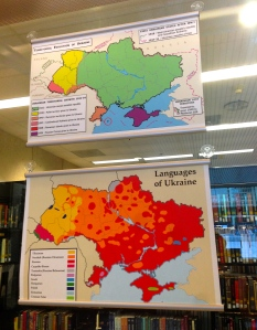 Ukraine exhibit, Green Library, Stanford University