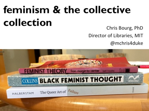 title slide: feminism & collective collection