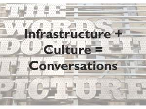 Infrastructure + Culture = Conversations